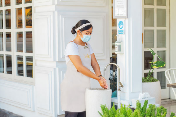 hand sanitizer is available to user for every customer